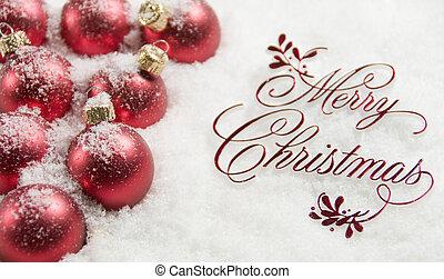 frohe weihnacht, zeichen, und, verzierungen