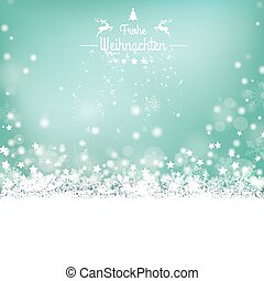 frohe, weihnachten, estrellas, nieve, bokeh, estrellas,...