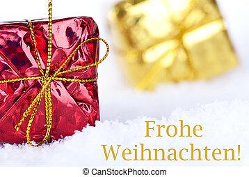Frohe Weihnachten in the Snow