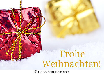 Frohe Weihnachten in the Snow