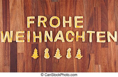 Frohe Weihnachten with cookies