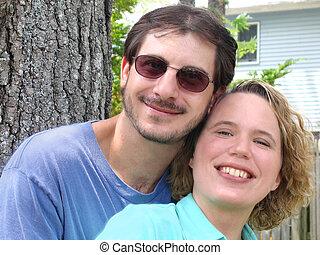 frohes ehepaar