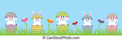frohes ostern, kaninchen