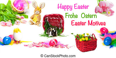 frohes ostern, ostern, motives