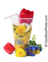 froid, fleurs, poinçon