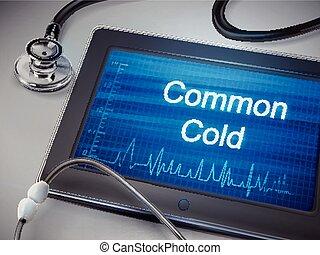froid, mots, commun, tablette, exposer
