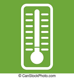 froid, thermomètre, vert, icône