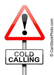 froid, warning., appeler