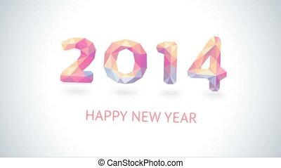 From 2014 to 2015. Happy New Year 2015 colorful greeting...