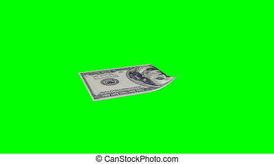 from a banknote a paper airplane is formed, the concept of...