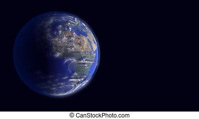 From a orbit over ocean