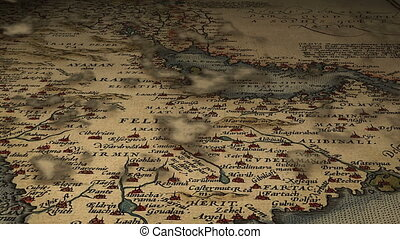 from Arabia to Libya m1003B, animation of the ancient map