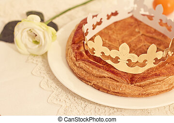 from, francais, gâteau, traditionnel, rois, galette