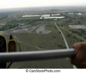from hang-glider - the view made from motor hang-glider