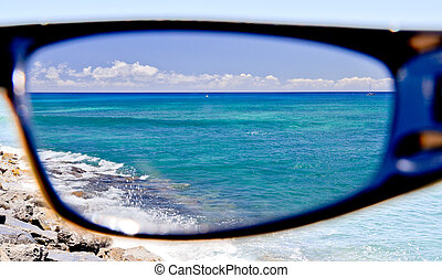 From my point of view - Through my glasses, the glare is ...