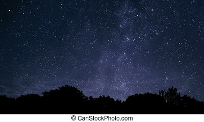 From night to morning - Timelapse video of starry Milky Way...