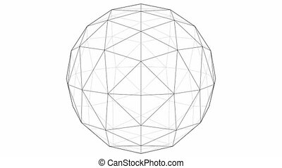From Octahedron To The Ball Sphere Lines Animation