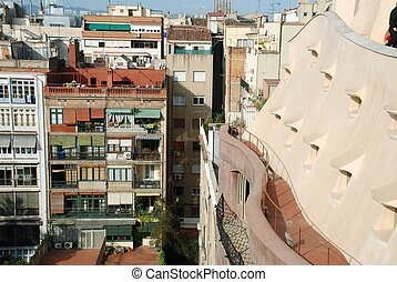 from roof of Casa Mila - Barcelona
