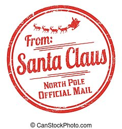 From Santa Claus grunge rubber stamp