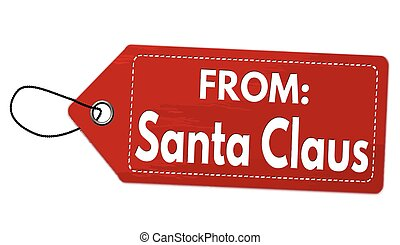 From Santa Claus label or price tag