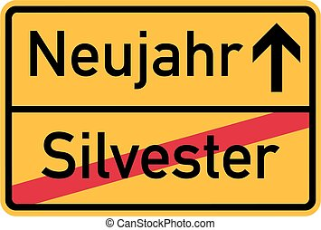 From Sylvester to New year - german sign