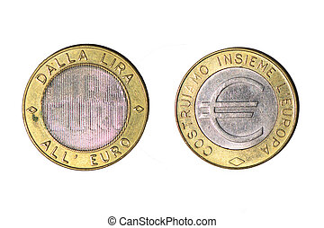 From the lira to the euro token. Presentation of the Euro coin. Precursors of the coin