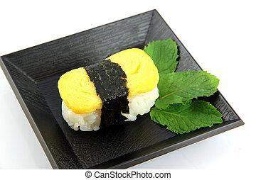 ??from, uovo, fatto, sushi, dish.