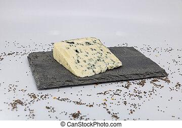 fromage bleu, couper, milk), ardoise, sheep's, (blue, plat