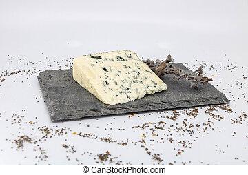 fromage bleu, dégustation, ardoise, sauge, sauvage, plateau