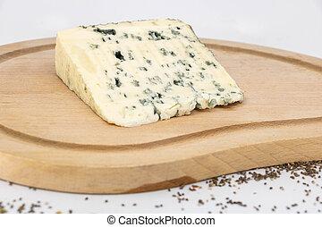 fromage bleu, plaque, dégustation, bois, sheep's, rustique,...