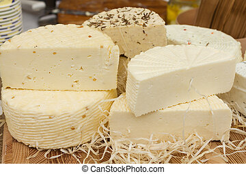 fromage, différent, types