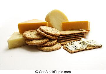 fromage, et, craquelin, collection, studio