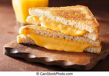 fromage grillé, sandwich petit déjeuner