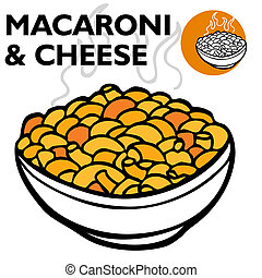 fromage, macaronis