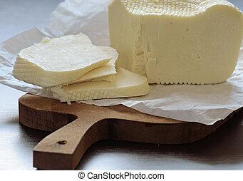 fromage, planche découper