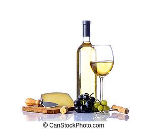 fromage, raisins, vin