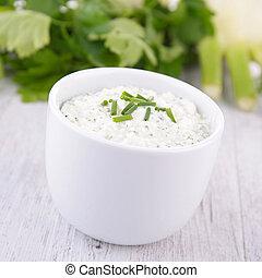 fromage, trempette, crème