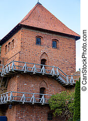 Frombork Cathedral hill, a place where he worked Copernicus. Poland