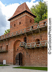 Frombork, Poland - Sept, 7, 2020: Frombork Cathedral hill, a place where he worked Copernicus. Poland