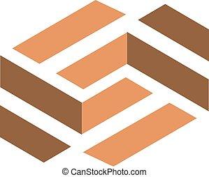 frome, podłoga, s, baza, litera, logo