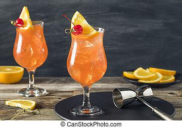 fronde, froid, rafraîchissant, cocktail, singapour