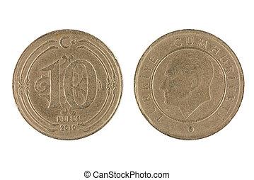 Turkish 10 Kurus Coin