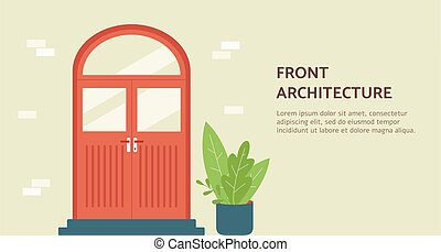 Front architecture banner for architectural agency flat ...