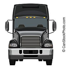 Front black truck