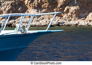 Front bow of a yacht
