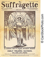 Front cover of the suffragette magazine dedicated to Emily...