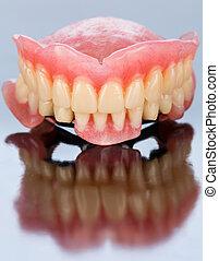 front, dental, prothese, ansicht