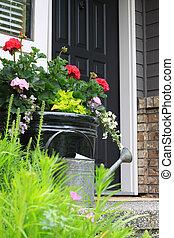 Front door - Flowers by the front door.