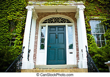 Front Door - Front door on typical Colonial style home