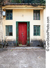 Front door of old chinese house